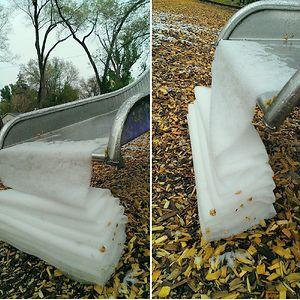 Folded Snow