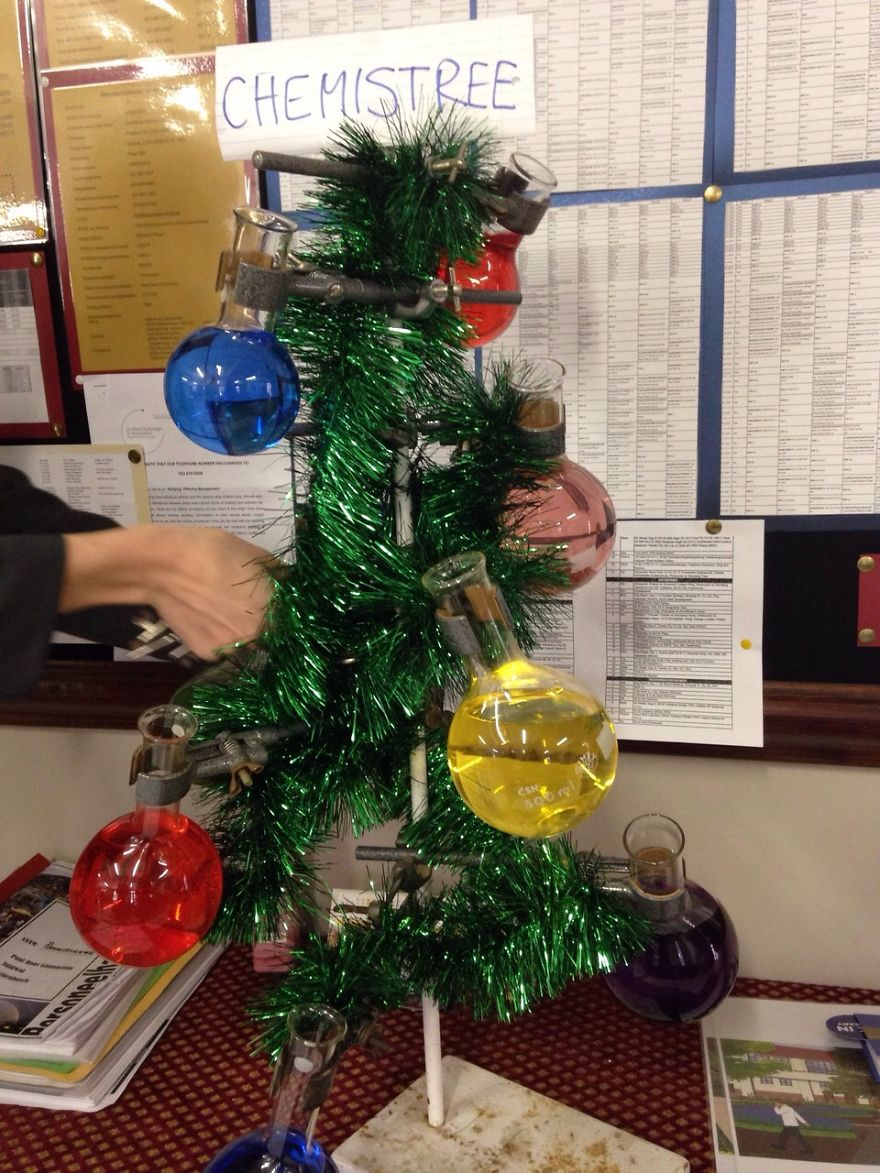 Chemistry Teacher's Christmas Tree