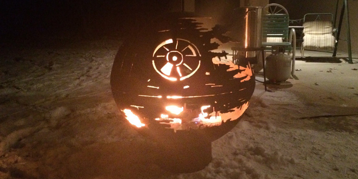 84 Year Old Grandpa Creates A Metal Death Star Firepit For