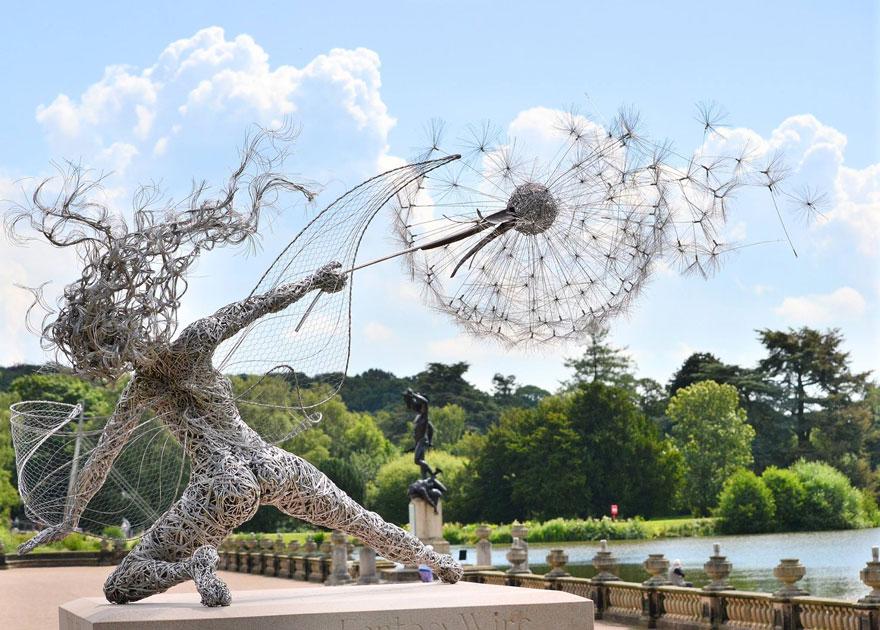 Fairy Sculptures Dancing With Dandelions