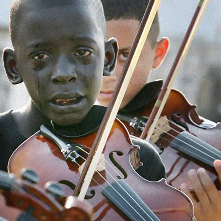 Diego Frazão Torquato, A 12-Year-Old Brazilian, Playing Violin At His Teacher's Funeral