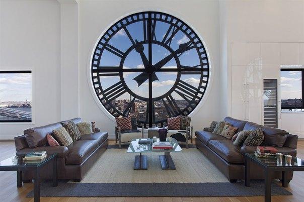 Old Tower Clock Window
