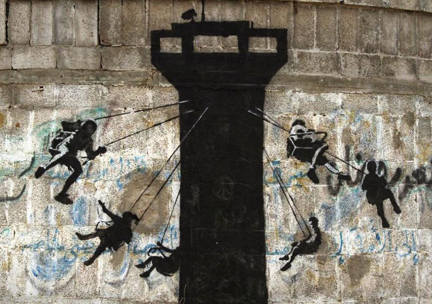 israel-palestine-conflict-gaza-strip-street-art-banksy-2