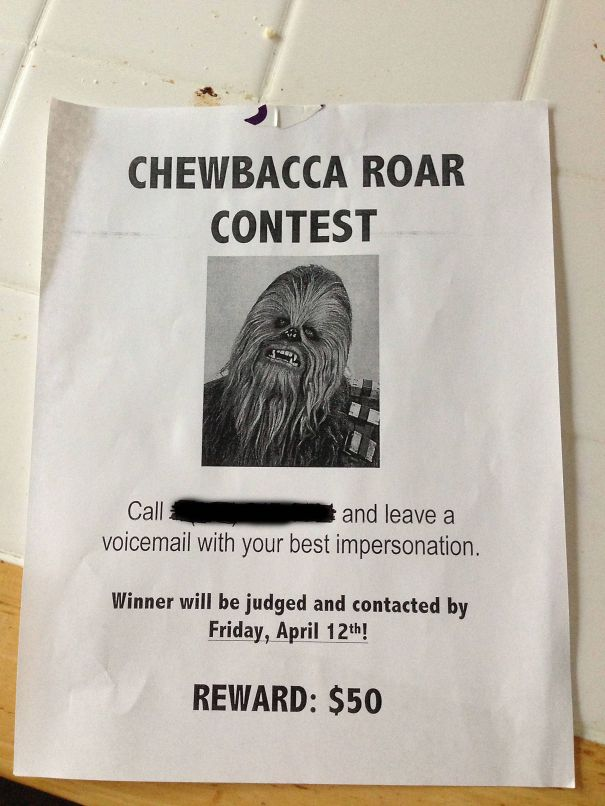 Chewbacca Roar Contest