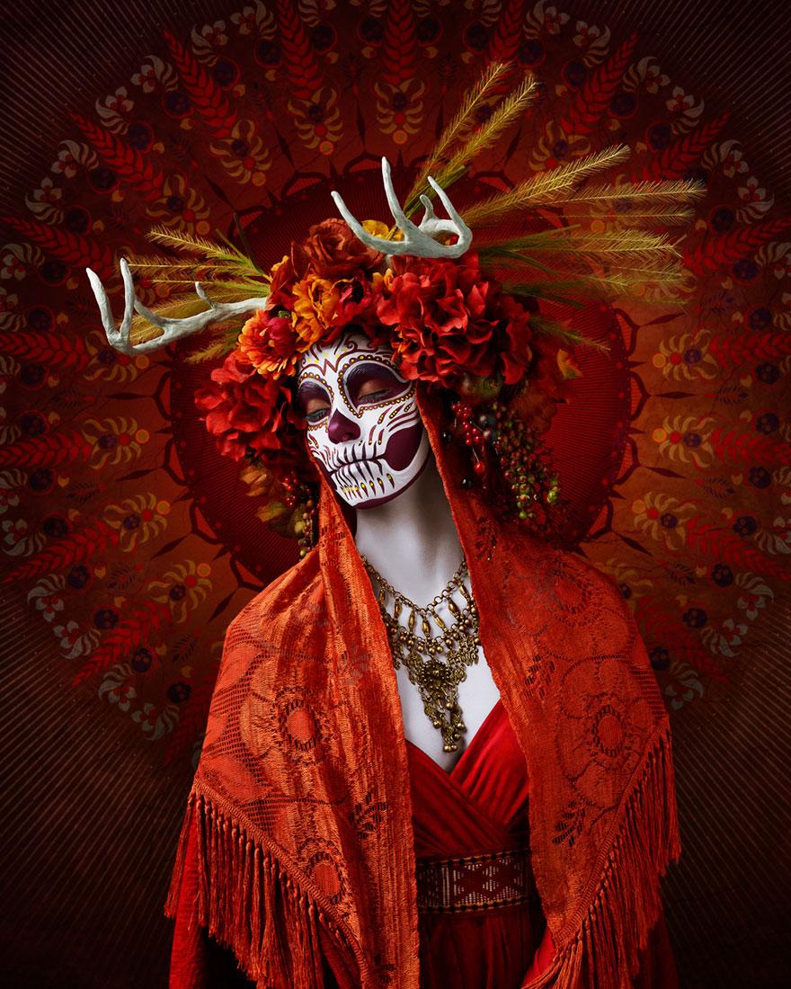 Dia-de-los Muertos-ημέρα-της-νεκρός-μακιγιάζ-φωτογραφία-las-muertas-Tim-tadder-2