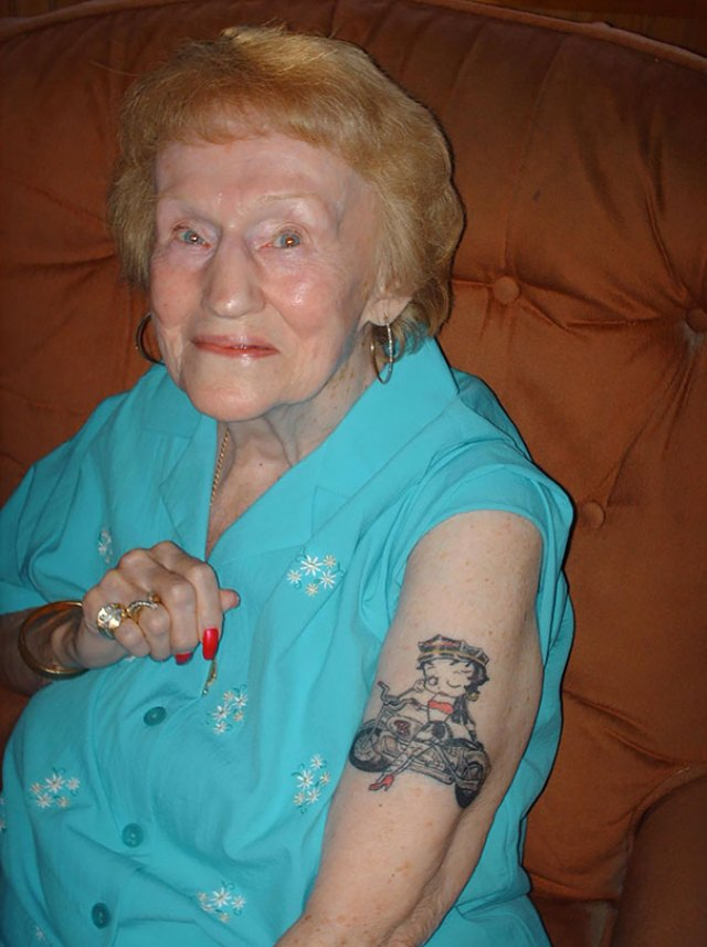 My 87 Year Old Step Grandmother Decided It Was Time To Get A Tattoo