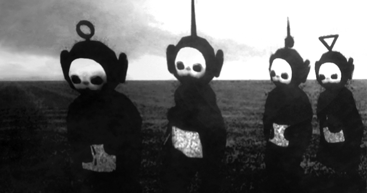 Teletubbies In Black White Look Like A Horror Show Bored Panda