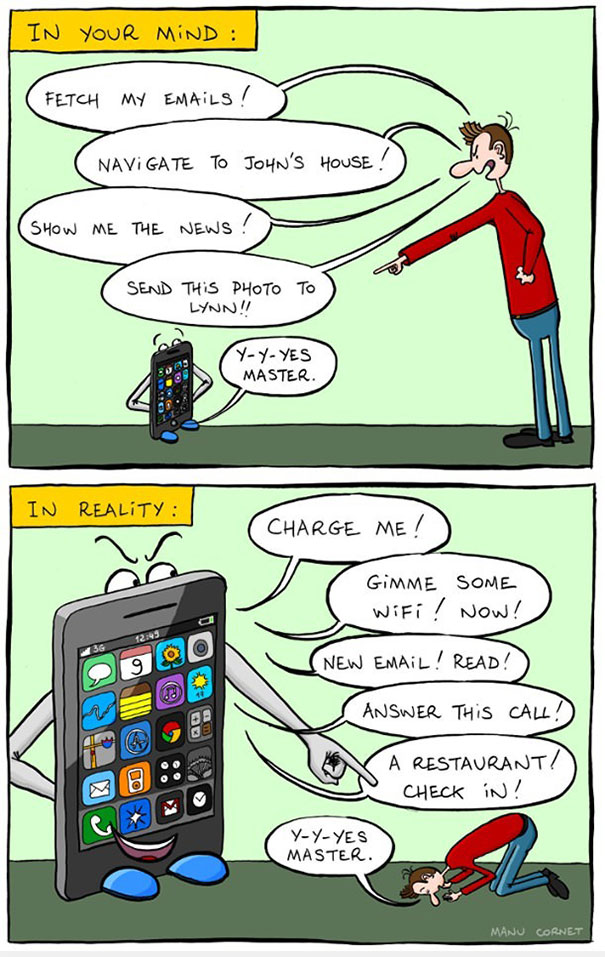 10 Funny But Thought Provoking Images Of How Smartphones Have Taken Over Our Lives XX Cartoons Ironically Showing Our Smartphone Addiction  605