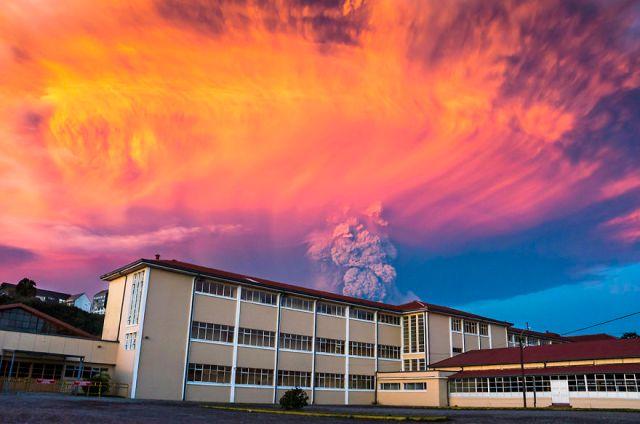 #17 The Eruption At Sunset From Puerto Montt Https://www.flickr.com/photos/mjportfolio/1703343