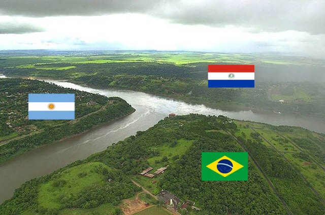 Argentina, Brazil And Paraguay