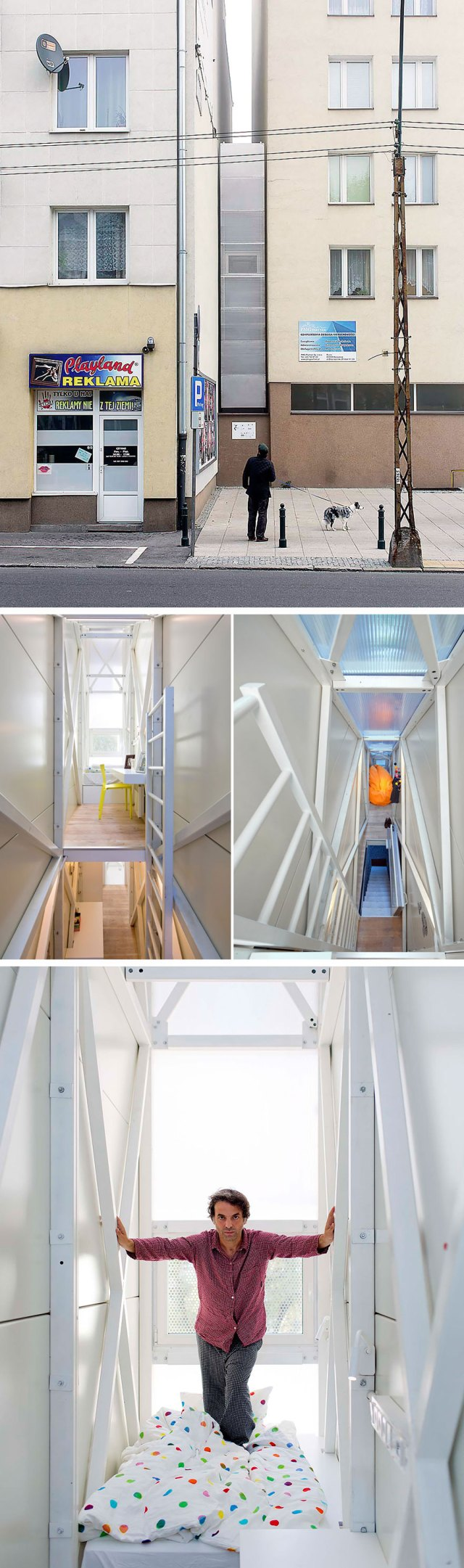 The Keret House in Warsaw