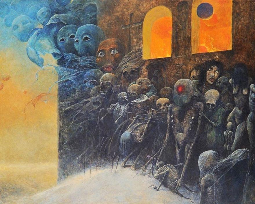Image result for beksinski paintings