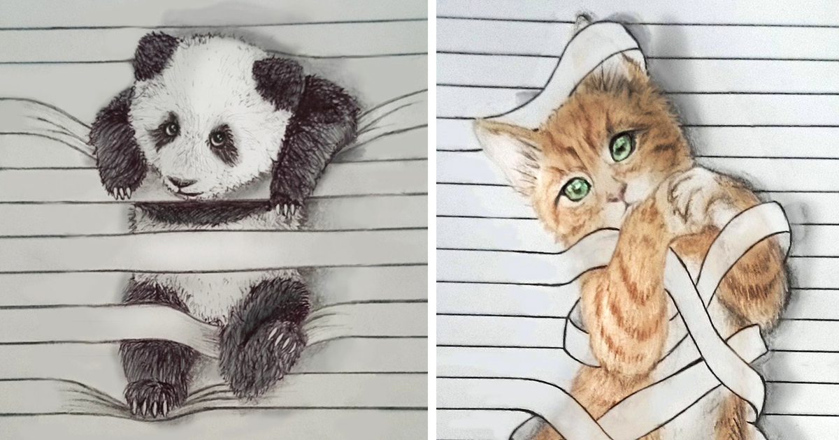I Draw Animals That Don T Want To Stay Between The Lines Bored Panda