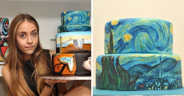 I Recreate Famous Paintings On Cakes Bored Panda