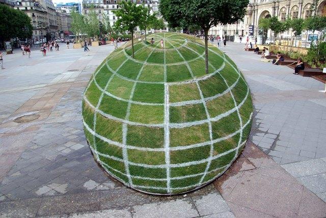 Çimden Yapılmış 3 Boyutlu Park
