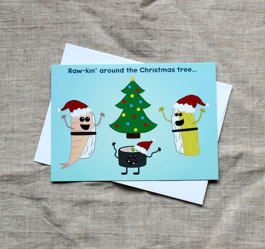 I Make Punny Christmas Greeting Cards Bored Panda