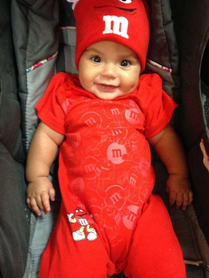 My Daughter 1st Halloween As The Red M&m