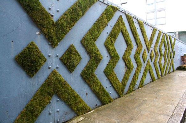 Geometric Moss Installation