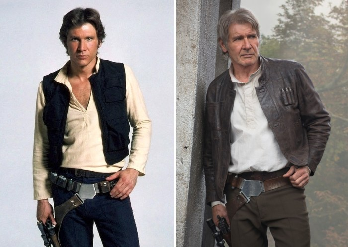 Harrison Ford As Han Solo, 1980 And 2015