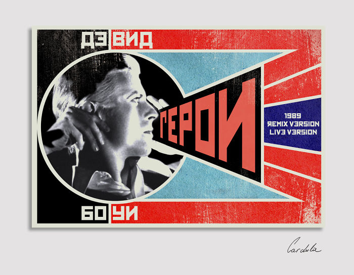 David Bowie In Retro Soviet Posters