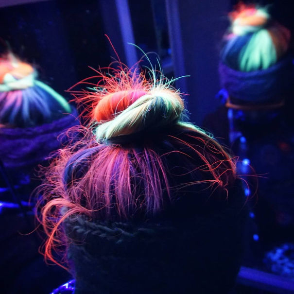 Now Your Rainbow Hair Can Glow In The Dark Under Black