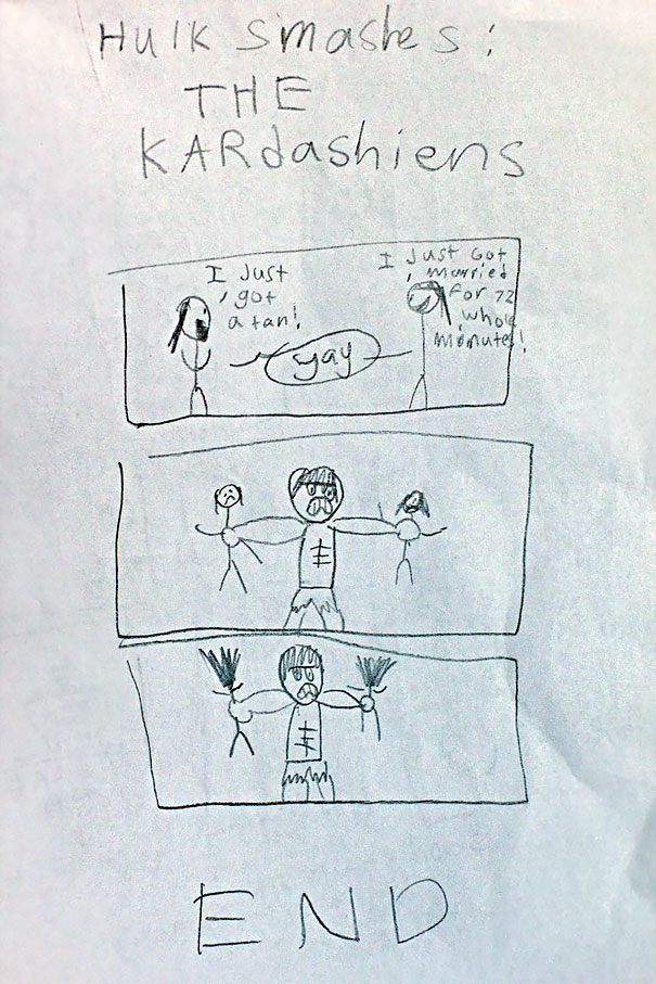 """Hulk Smashes The Kardashians"" By My 10-Year-Old Son"