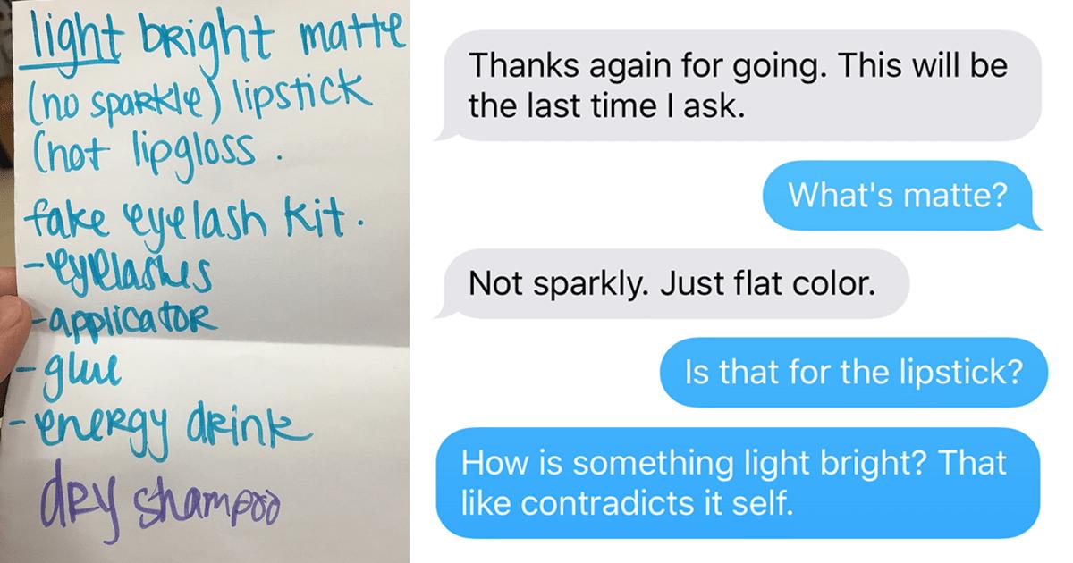 Girl Asks Boyfriend To Buy Makeup Regrets Her Decision