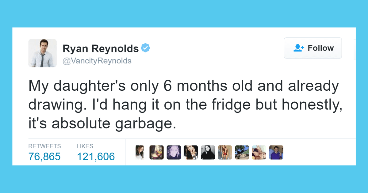 Ryan Reynolds Hilariously Honest Tweets About His