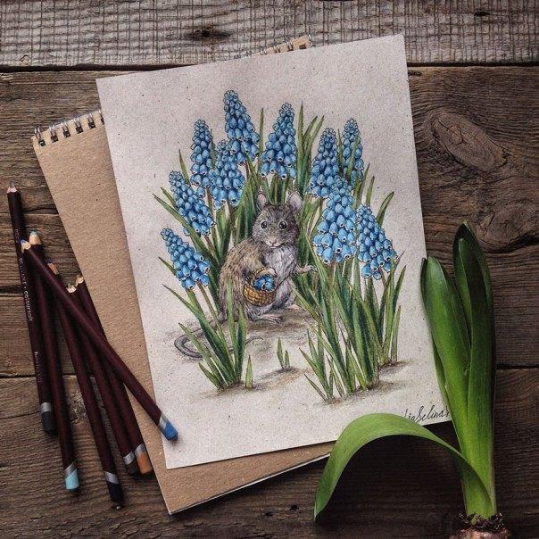 cuento de hadas-ilustraciones a todo color lápiz-lia-selina-16