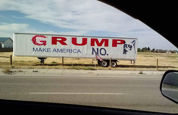 Someone Didn't Like Trump