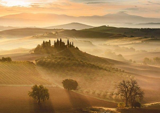 Golden Sunrise, Toscana, Italia