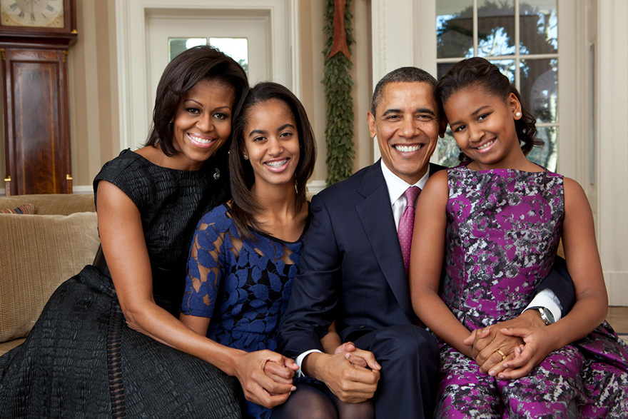 Ritratto della famiglia nello Studio Ovale