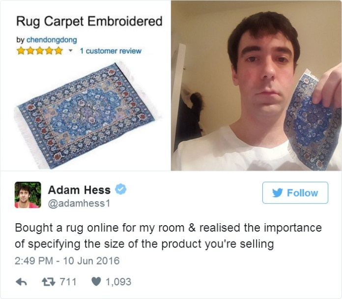 Bought A Rug Online For My Room