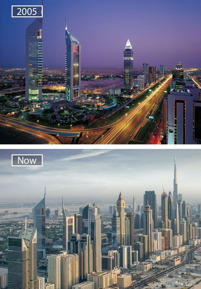 Dubai, United Arab Emirates 2005 And Now