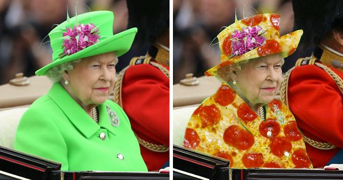 The Queen S Green Screen Outfit Sparks A Hilarious Internet