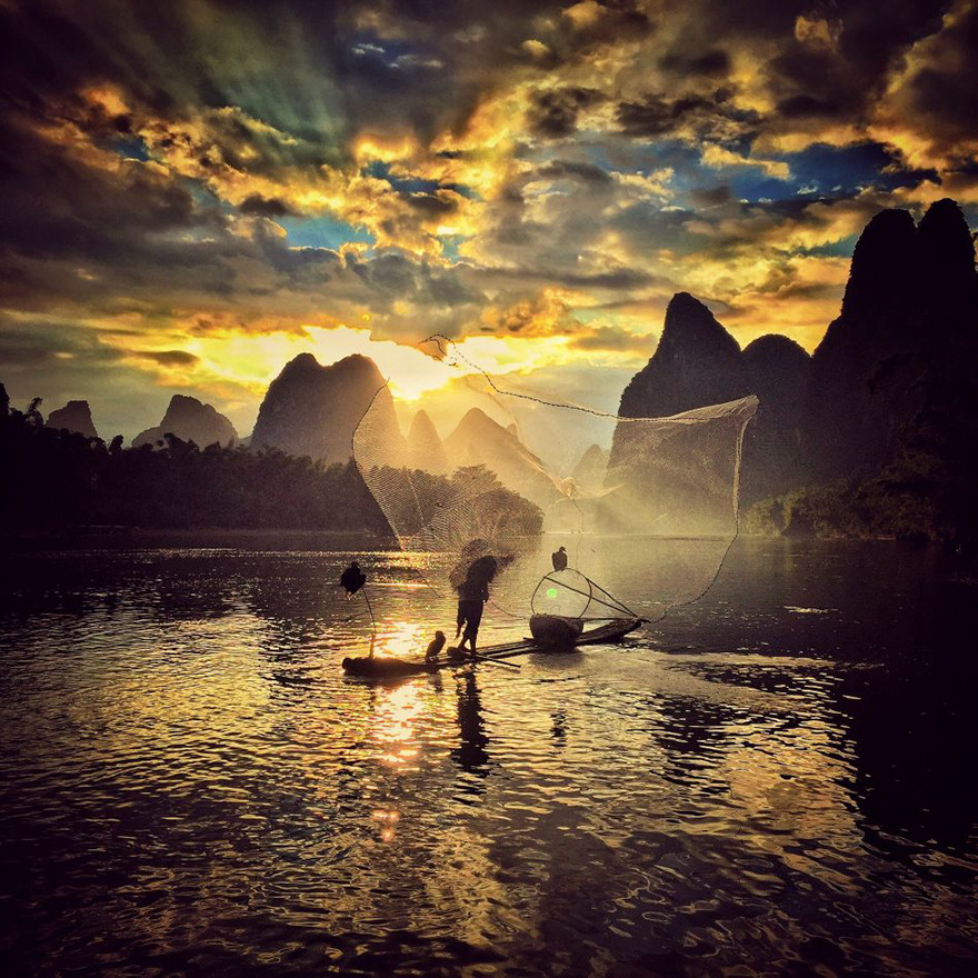Yongmei Wang From Chongqing, China, 2nd Place, Sunset