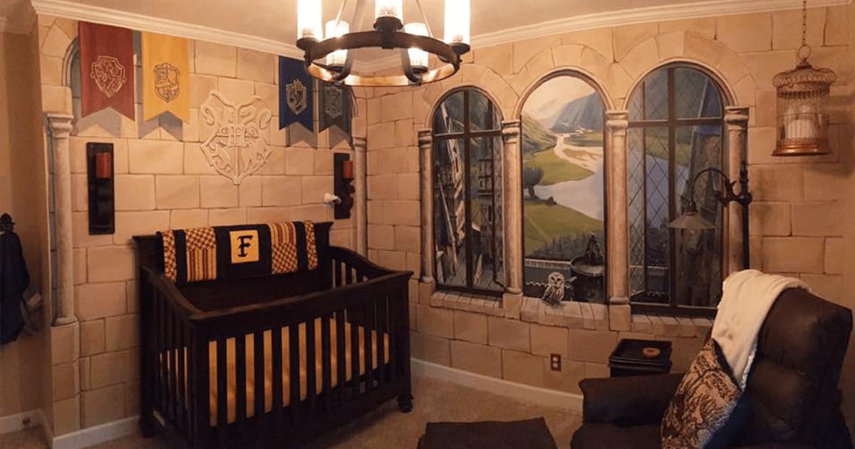Dad Creates Harry Potter Nursery For His Little Wizard