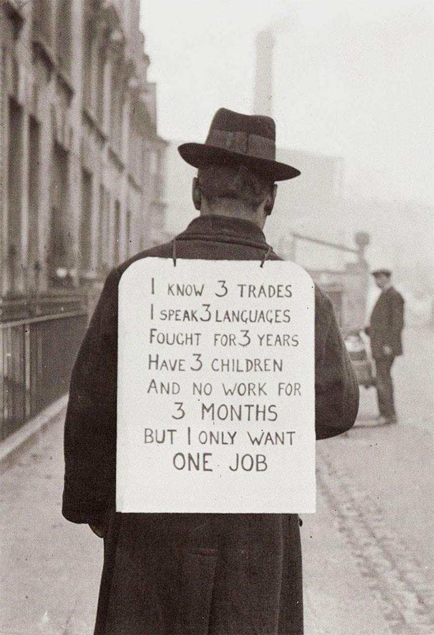 Job Hunting In 1930's