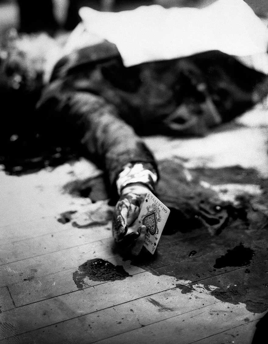 Mafia Boss Joe Masseria Lays Dead On A Brooklyn Restaurant Floor Holding The Ace Of Spades, 1931