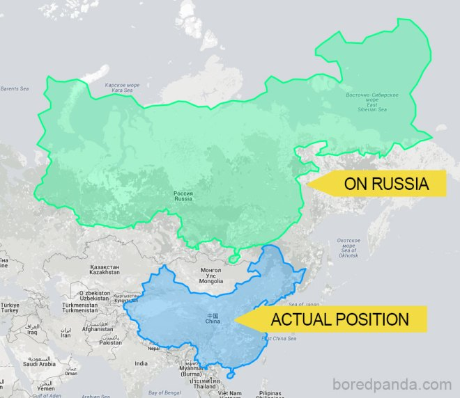 China Placed On Top Of Russia