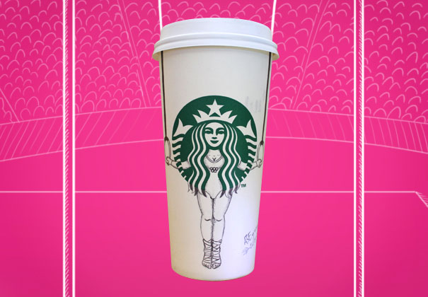 Drawing On Cup