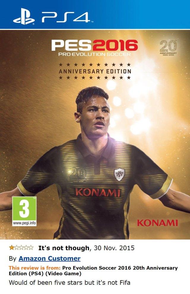 Pro Evolution Soccer 2016 20th Anniversary Edition (ps4)