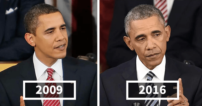 Image result for Obama before and after president