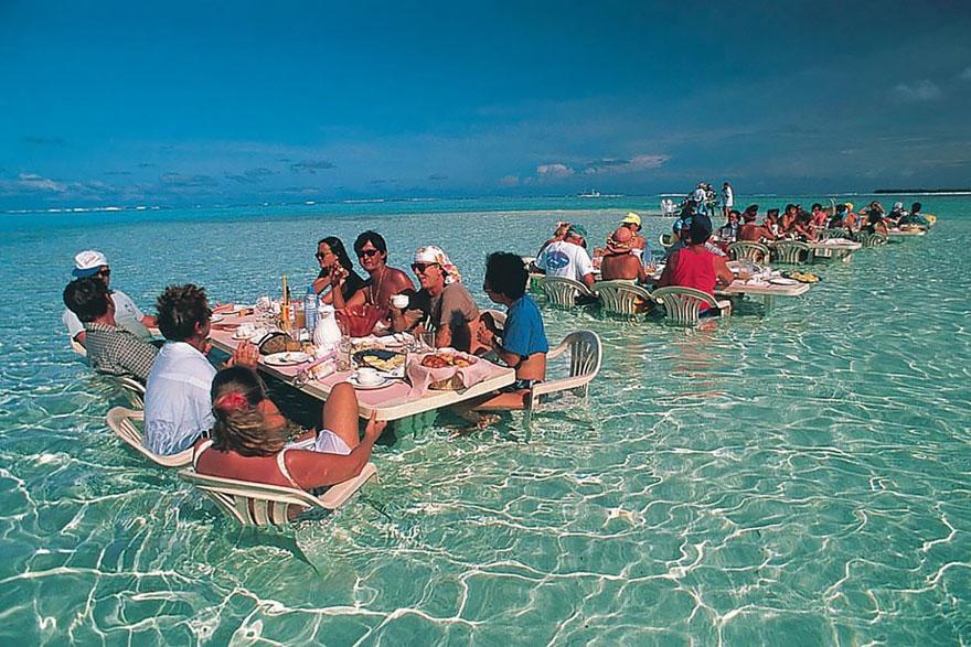 Dine In The Water In This Amazing Restaurant In Bora Bora