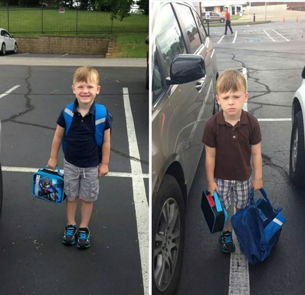 First Day Of School Vs Second Day Of School