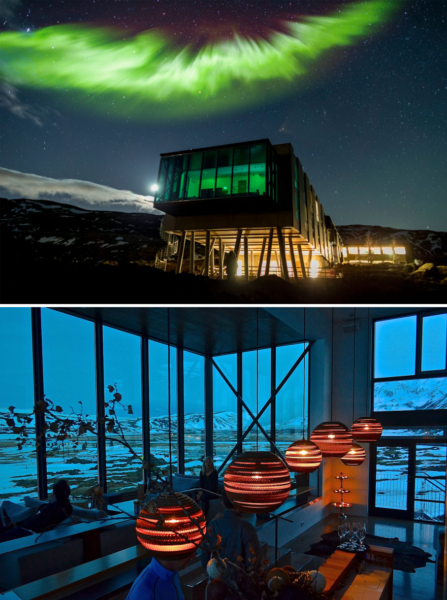 Perfect Location To View The Northern Lights - Northern Lights Bar In Ion Hotel, Iceland