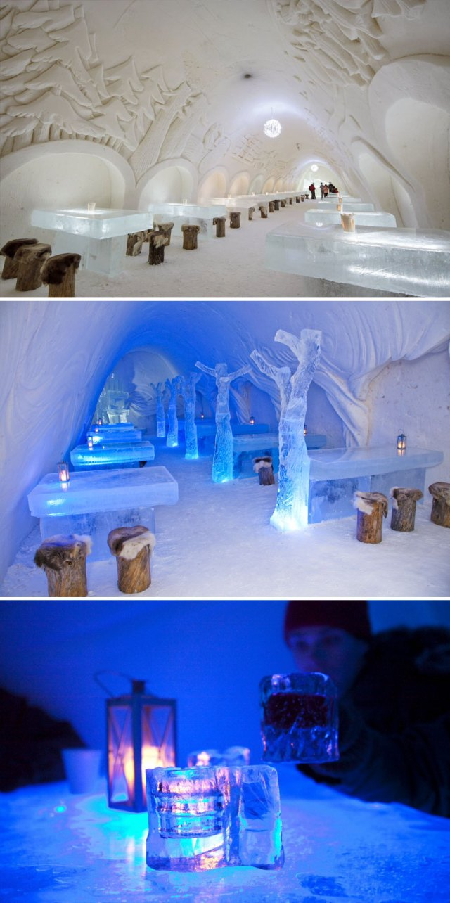 Dine Surrounded By Snow And Ice, The Snowcastle Of Kemi, Kemi, Finland