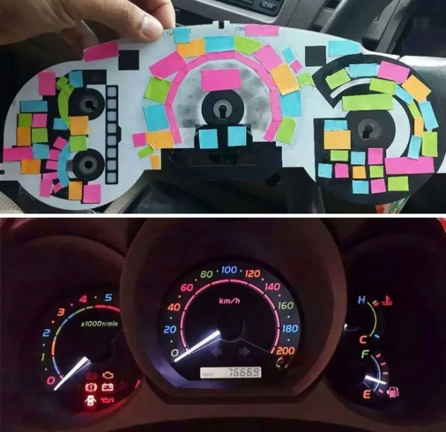 Use Post-it Notes To Color Dashboard Lights