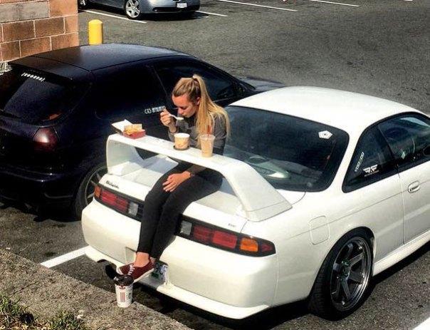 Utilice su alerón del coche como una mesa de picnic
