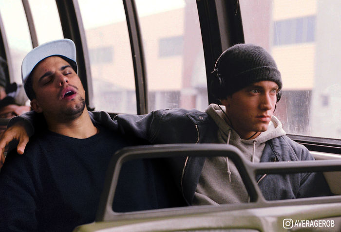 When I'm Passed Out On A Bus, Eminem Keeps Me Warm